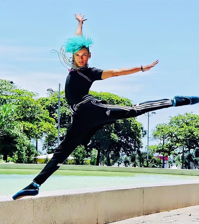 Roky Mendoza un bailarín dominicano que brilla sobre hielo en Oslo