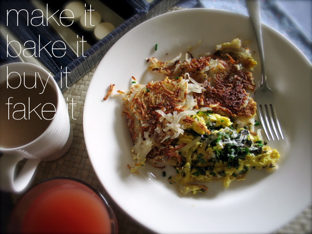 Herb-y Eggs & Easy Freezer Hash Browns