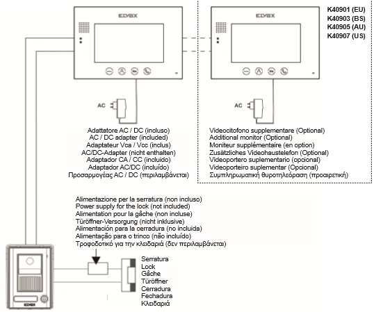 Elvox intercom wiring diagram aiphone