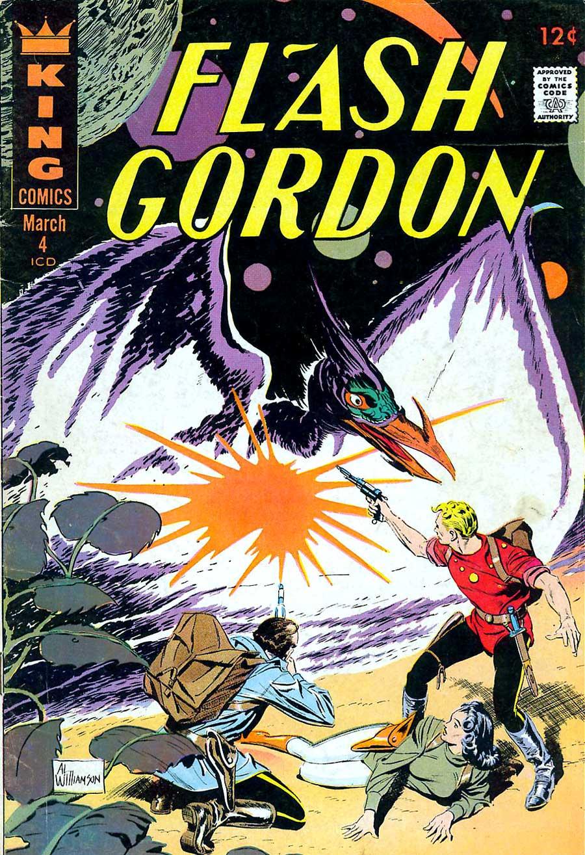 Flash Gordon v4 #4 1960s silver age science fiction comic book cover art by Al Williamson