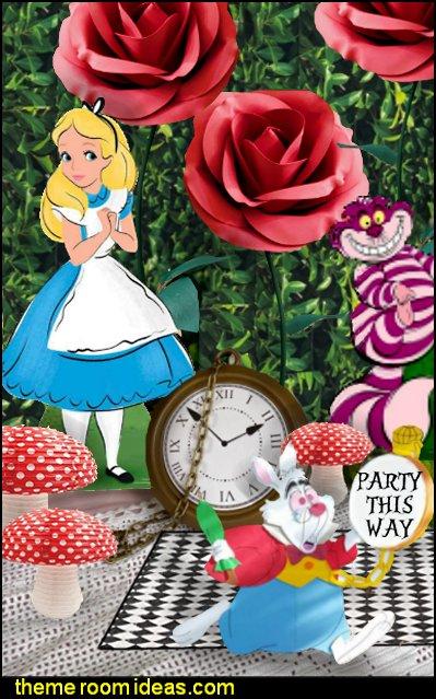 White rabbit alice in wonderland party decoration  White Rabbit Clock