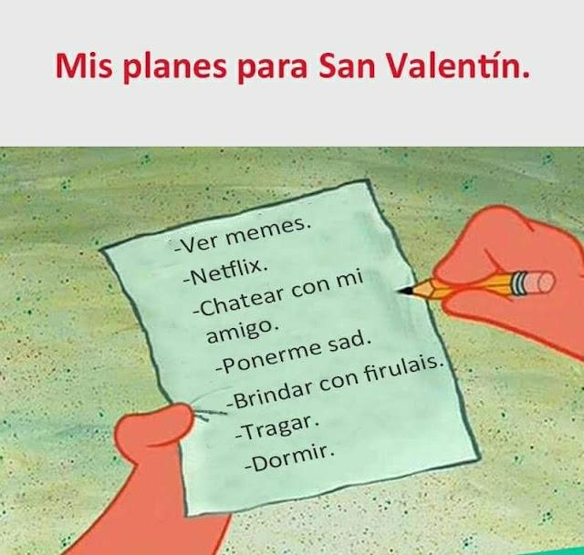 Mis planes para San Valentín