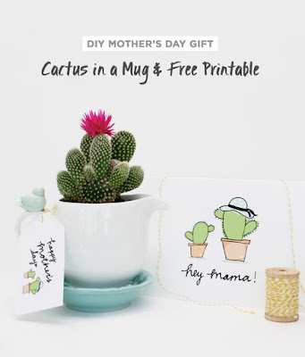 free cactus gift tag