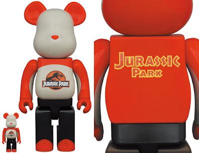 Jurassic Park Logo Be@rbrick Vinyl Figures by Medicom Toy