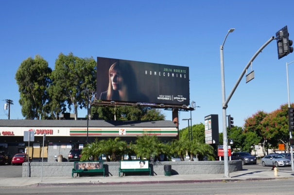 Homecoming Amazon series billboard