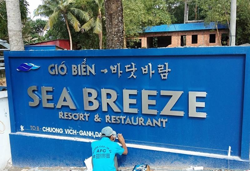 Thi công chữ Inox 304 Gió Biển tại Phú Quốc