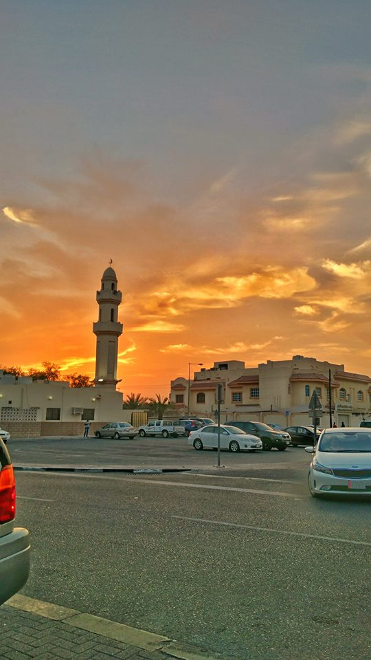 Qatar Doha sunset mosque picture