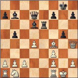 Partida de ajedrez Esteve Puig i Puig - José María Baquero Vidal (1905), posición después de 17...g5!?