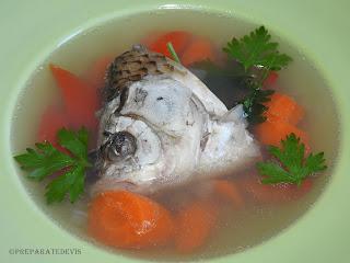 Supa din cap de peste reteta,