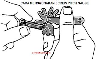 cara menggunakan screw pitch gauge