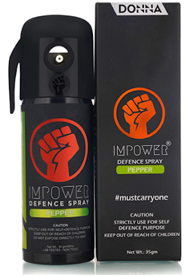 IMPOWER Self Defence Pepper Spray to Travel with Confidant Anytime and Everywhere