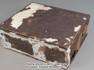 Kue Ekspedisi Scott Berumur 100 Tahun Lebih ditemukan di Antartika