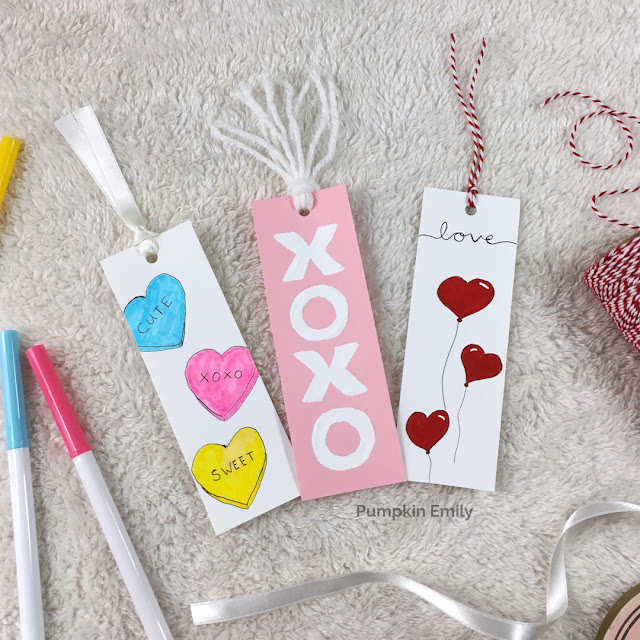 3 Easy DIY Valentine Bookmarks