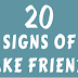 20 Signs Of Fake Friends #infographic