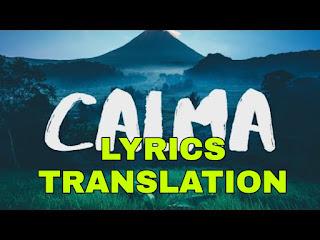 Calma Lyrics in English | With Translation | - Pedro Capó, Farruko
