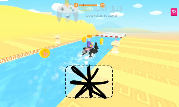 تحميل لعبة Scribble Rider للاندرويد مجانا
