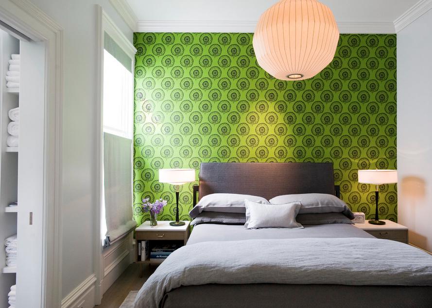 Hasil gambar untuk kamar tidur wallpaper dinding