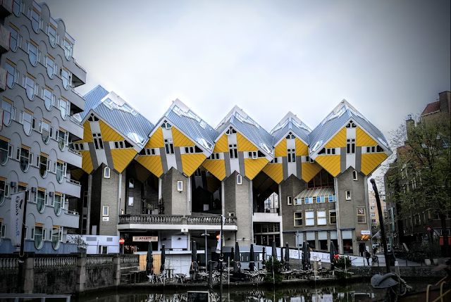 The Yellow Cube Houses by Of Mice and raMen