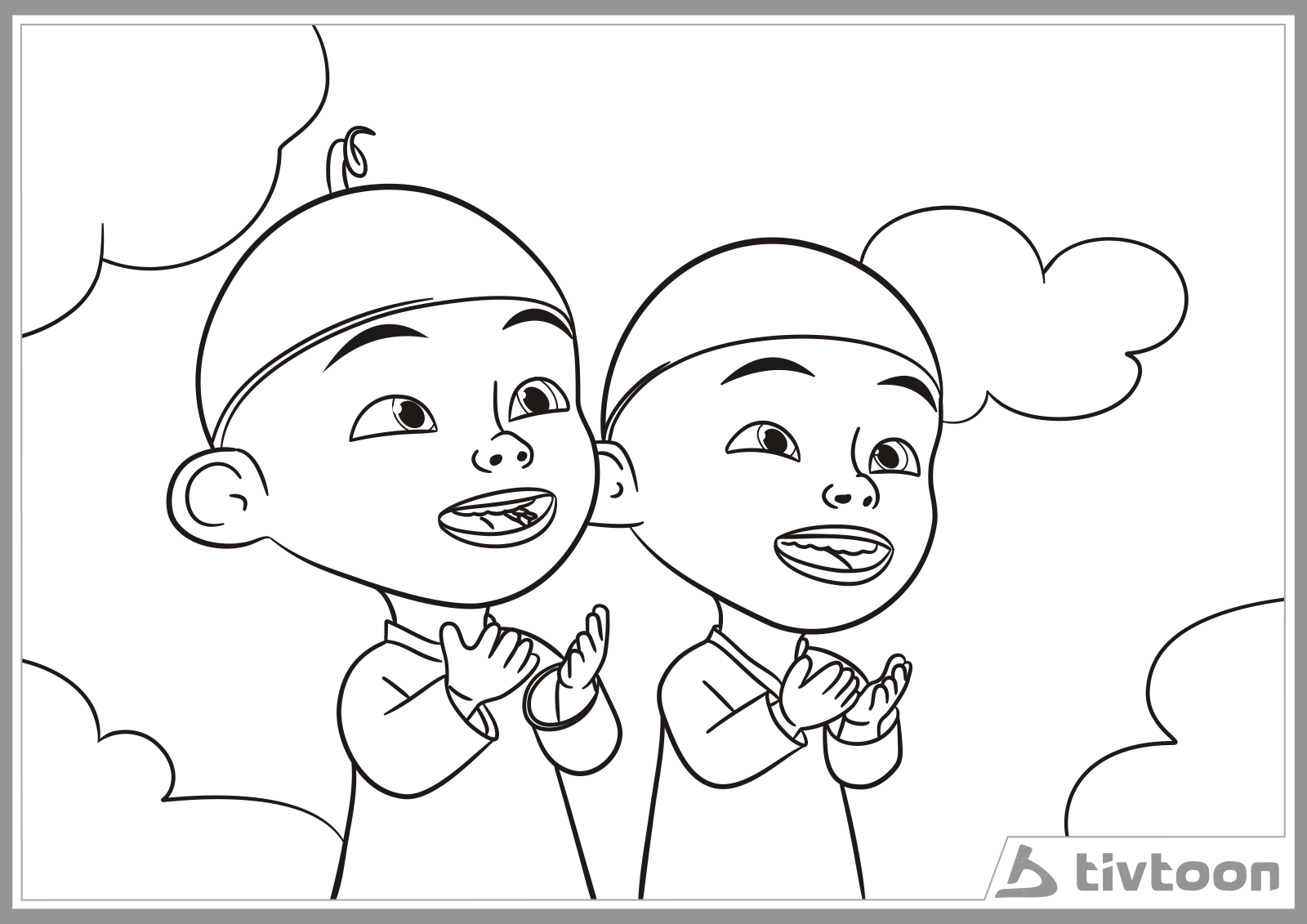 Upin Ipin Printable Coloring Pages