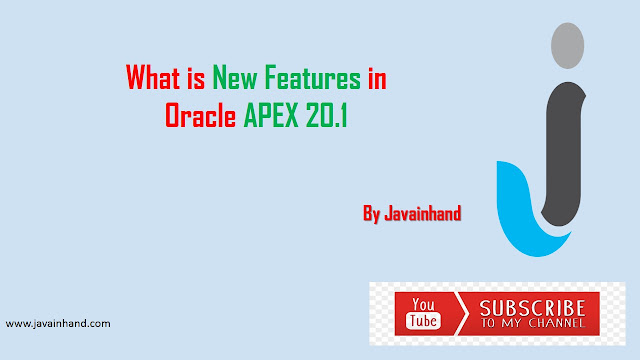 What is New Features in Oracle APEX 20.1