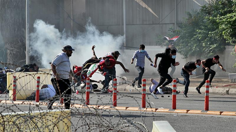 Iraqi police open fire to disperse protesters on Baghdad streets