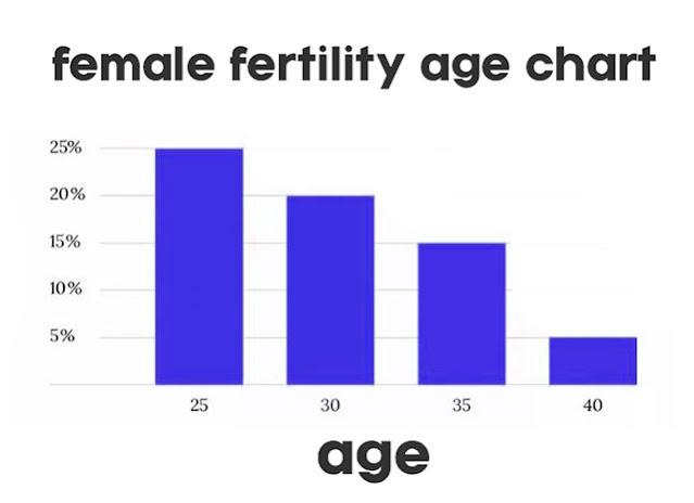 female fertility age chart