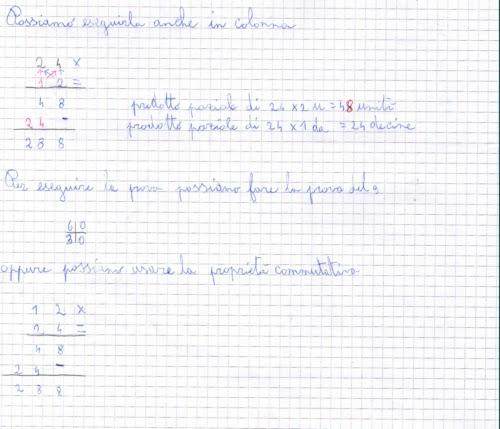 Didattica Matematica Scuola Primaria Moltiplicazioni In Colonna Con
