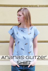 nähen | Ananas Glitzer Shirt