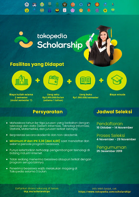 Tokopedia Scholarship Deadline 14 November 2019