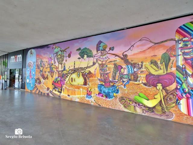Vista do Painel da entrada do Museu de Arte Moderna de São Paulo - Ibirapuera - São Paulo