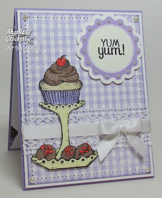 "ODBD ""Gingham Background', ""Baking Tag Sentiments"", ""Baking Gift Tags"",""Cupcake Plate"", ""Recipe Card and Tags Die Set"" Designer Angie Crockett"