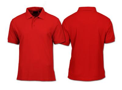 Desain Kaos Polo Merah