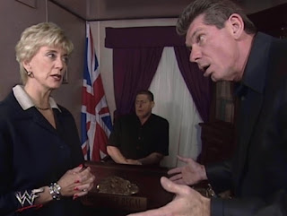 WWE / WWF Insurrextion (2001) - Linda McMahon confronts Vince in William Regal's office