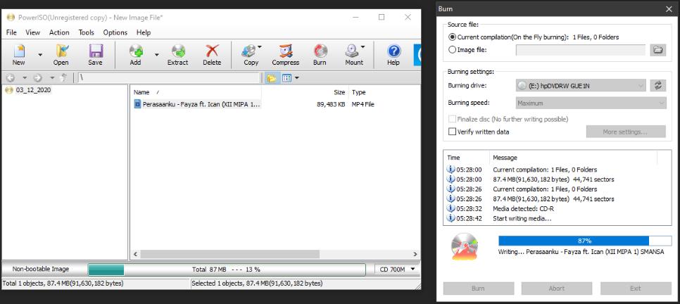 Cara Burning File ke CD/DVD dengan PowerISO