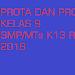 Prota dan Promes Kelas 9 SMP/MTs K13 Revisi 2018