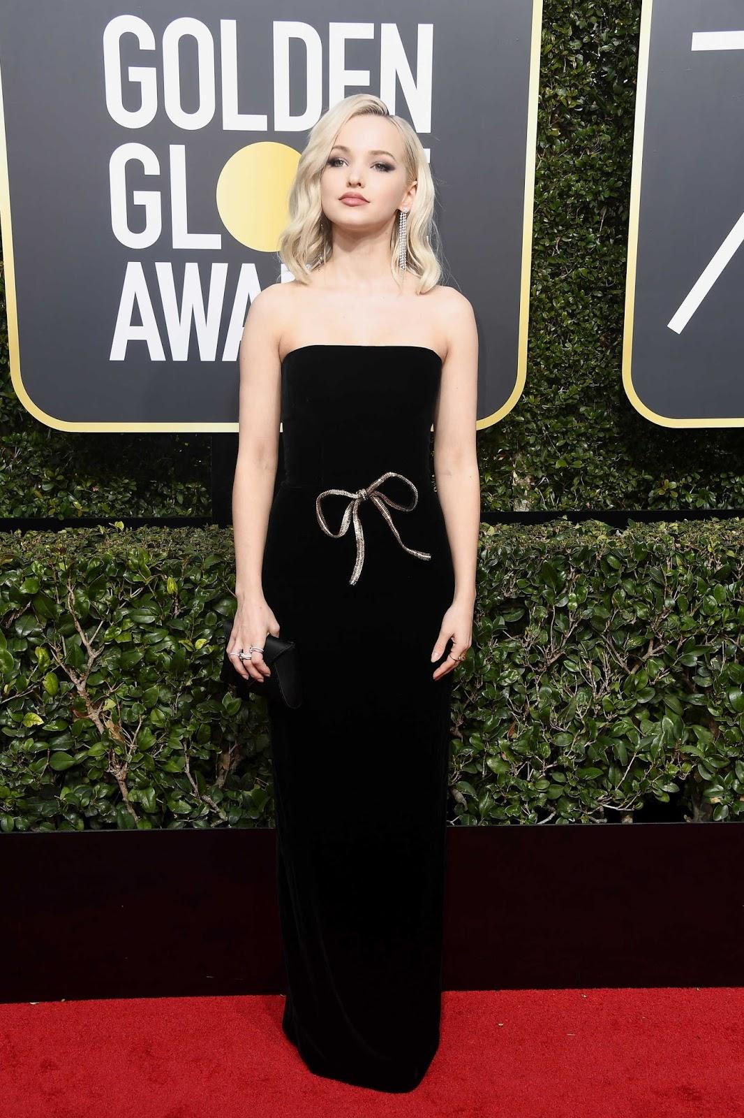 Dove Cameron Posing at  Golden Globe Awards