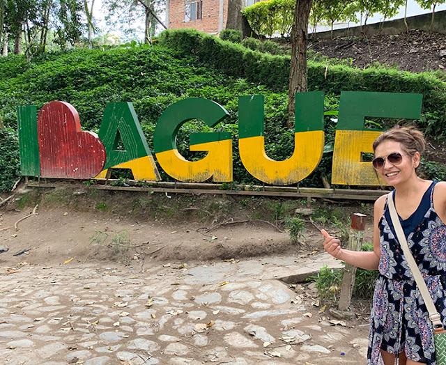 Ibague sign in parque centenario