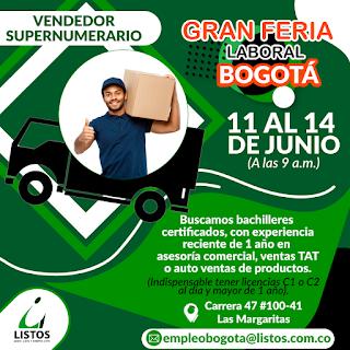 Vendedor Supernumerario en Bogota