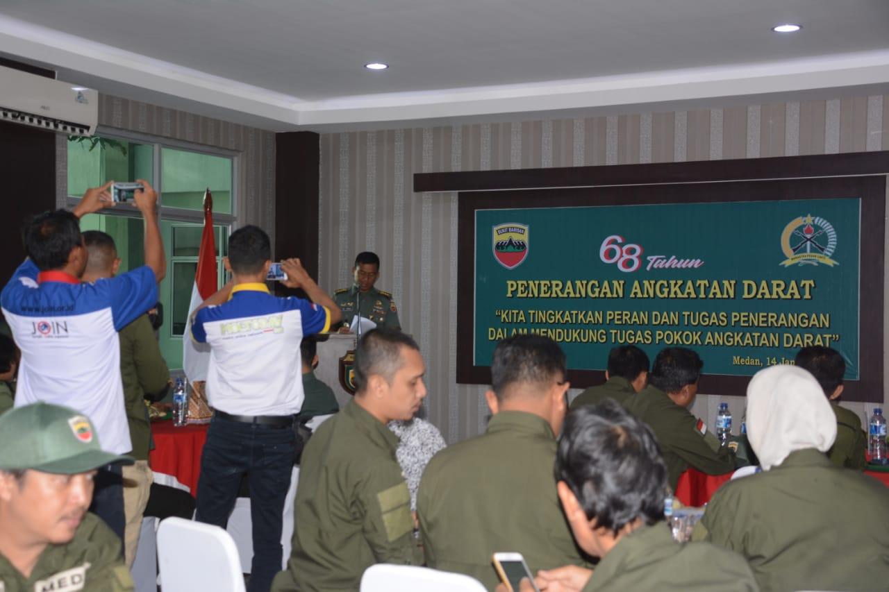 Peringatan HUT ke-68 Penerangan TNI AD, Pendam I/BB Perkuat Sinergitas dengan Media