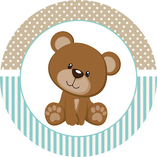 Toppers or Teddy Bear for Boys Free Printable Labels.