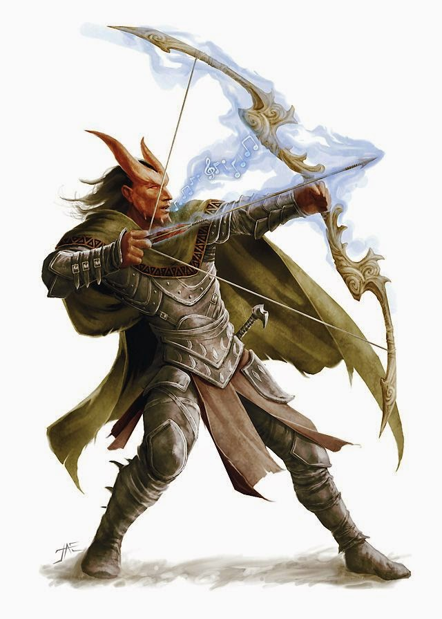 Realms of Chirak: D&D 5E: Kytron Vellasco, level 4 tiefling fighter