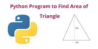 python program Finding area of a traingle