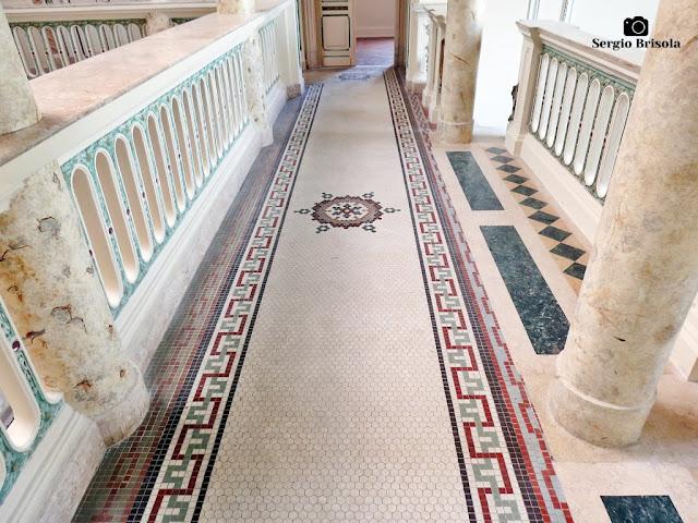 Palacete Basílio Jafet (piso pastilhado da galeria superior)