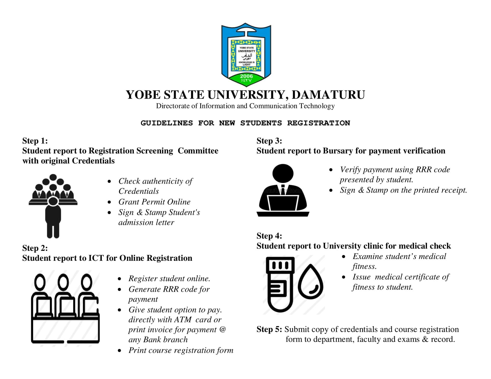 Yobe State University (YSU) Registration Guidelines 2020/2021