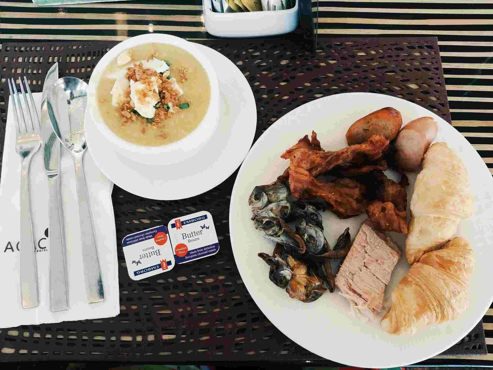 Breakfast plate at Acaci Cafe in Acacia Hotel