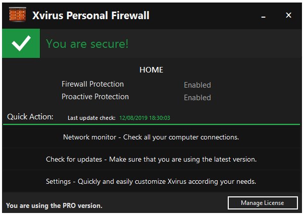 Screenshot Xvirus Personal Firewall PRO 4.5 Full Version