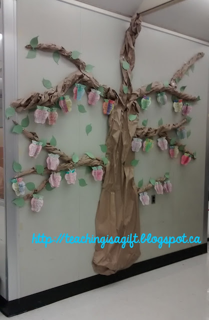 Picture of Growth Mindset Tree from teachingisagift.blogspot.ca