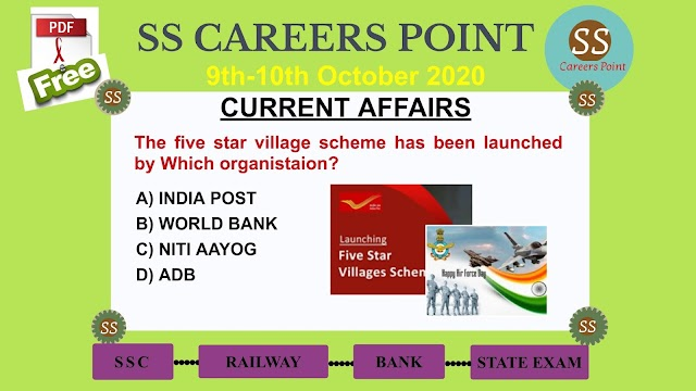 9th-10th October 2020 CURRENT AFFAIRS | Target RRB NTPC SSC GROUP D