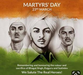 Sardar Patel, Shaheed Bhagatsingh, Sukhdev, and Rajguru