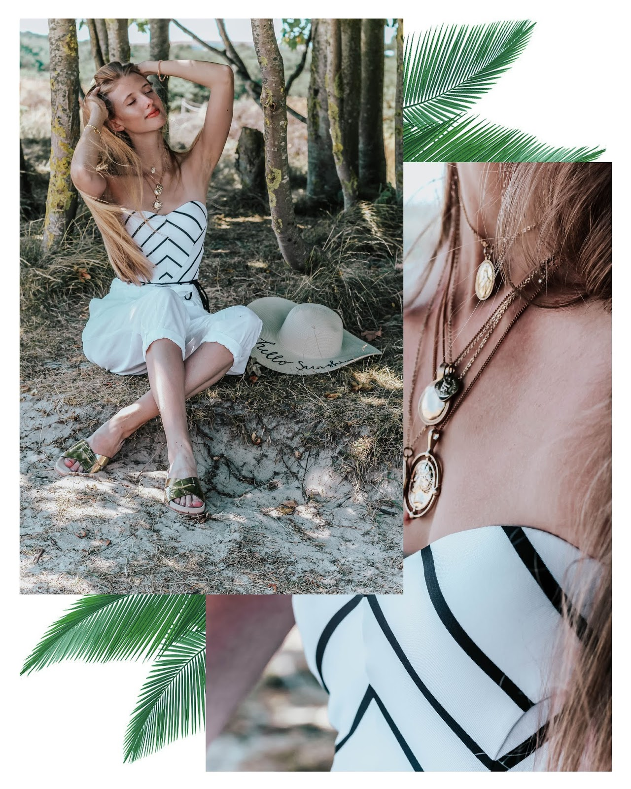 Tropical Beach Fashion Blog Collage